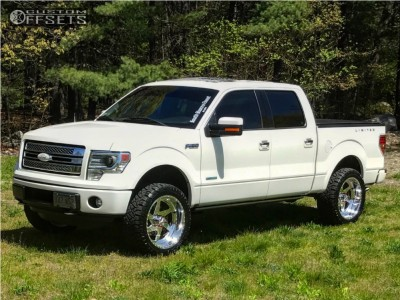 """2013 Ford F-150 - 22x10 -25mm - American Force Jade Ss - Leveling Kit - 33"""" x 12.5"""""""