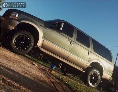 "2003 Ford Excursion - 18x10 -24mm - Moto Metal Mo962 - Suspension Lift 6"" - 33"" x 12.5"""