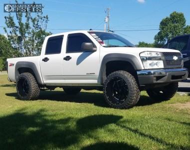 2005 Chevrolet Colorado - 20x12 -44mm - Brute Reaper - Stock Suspension - 285/50R20