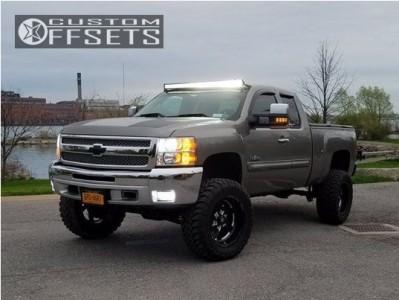 "2012 Chevrolet Silverado 1500 - 20x10 -18mm - Fuel Turbo - Suspension Lift 7.5"" - 35"" x 12.5"""
