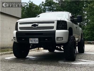 "2011 Chevrolet Silverado 1500 - 20x12 -51mm - Vision Prowler - Suspension Lift 7.5"" - 35"" x 12.5"""