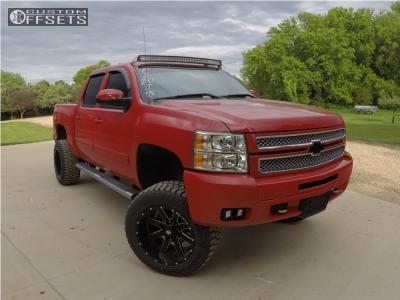 "2012 Chevrolet Silverado 1500 - 20x12 -44mm - Ballistic Rage - Suspension Lift 7.5"" - 305/55R20"