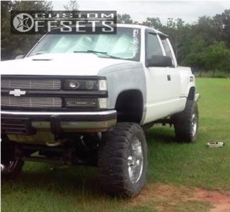 "1994 Chevrolet K1500 - 20x10 -24mm - Mazzi Hulk - Lifted >12"" - 35"" x 12.5"""