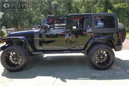 "2017 Jeep Wrangler - 20x12 -44mm - Scorpion Sc17 - Suspension Lift 3.5"" - 35"" x 12.5"""