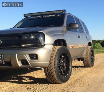 "2002 Chevrolet Trailblazer - 20x9 -12mm - Ballistic Anvil - Suspension Lift 3"" - 305/50R20"