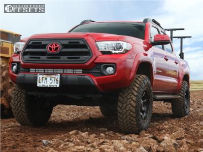 "2016 Toyota Tacoma - 17x9 -12mm - Moto Metal Mo970 - Suspension Lift 3.5"" - 285/70R17"