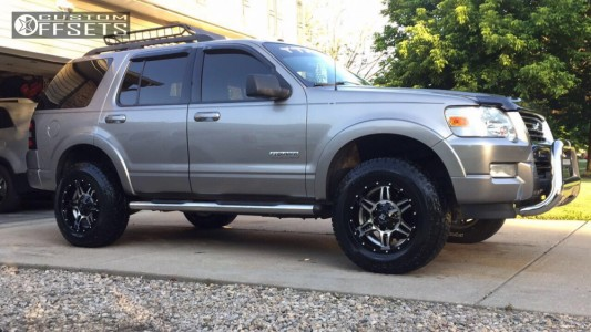 2008 Ford Explorer - 17x9 -12mm - K2 Offroad Sphinx - Leveling Kit - 265/75R17