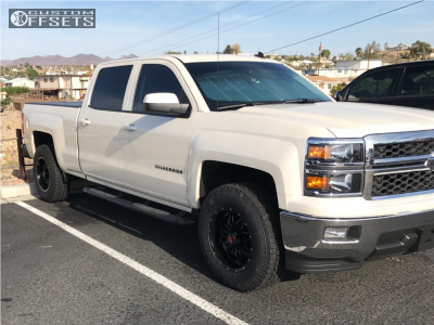 2014 Chevrolet Silverado 1500 - 18x9 -12mm - Havok H109 - Leveling Kit - 275/70R18