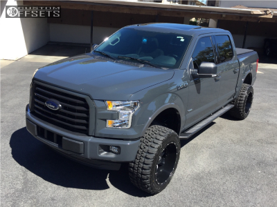 """2016 Ford F-150 - 20x12 -44mm - Hostile Switch Blade - Suspension Lift 6"""" - 33"""" x 12.5"""""""