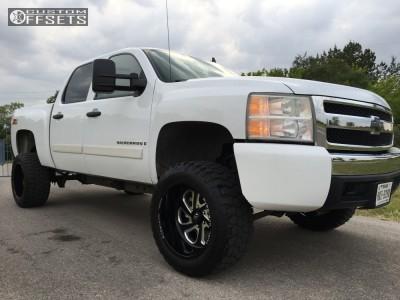 "2007 Chevrolet Silverado 1500 - 20x12 -43mm - Fuel Flow - Body Lift 3"" - 33"" x 12.5"""