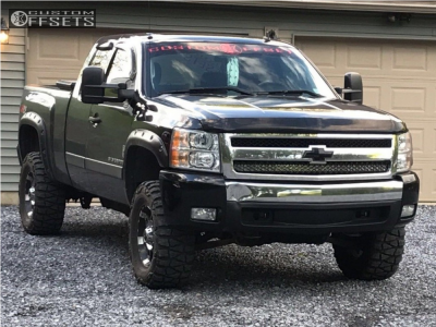 2008 Chevrolet Silverado 1500 - 17x9 -12mm - XD Spy - Leveling Kit & Body Lift - 305/55R17