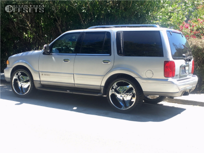 1999 Lincoln Navigator - 24x9.5 10mm - Helo He849 - Stock Suspension - 285/40R24