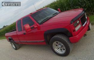 1997 Chevrolet C2500 - 18x8.5 12mm - Raceline Renegade 8 - Leveling Kit - 285/60R18