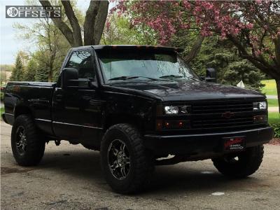 1992 Chevrolet K1500 - 17x8 0mm - Ultra Drifter - Leveling Kit - 285/70R17