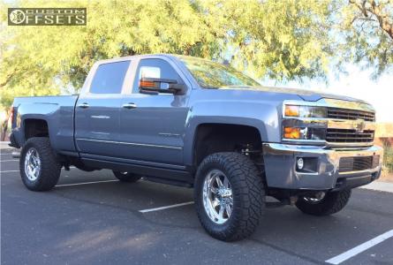 "2015 Chevrolet Silverado 2500 HD - 20x9 1mm - Fuel Forged Ff20 - Suspension Lift 4.5"" - 35"" x 12.5"""