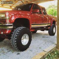 "1991 Chevrolet K1500 - 16.5x12 -44mm - Weld Racing Classic - Lifted >9"" - 38"" x 15.5"""