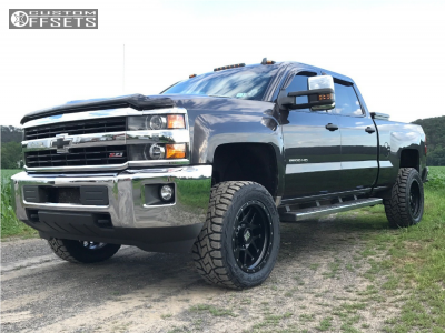 "2015 Chevrolet Silverado 2500 HD - 20x10 -24mm - XD Xd127 - Leveling Kit - 33"" x 12.5"""