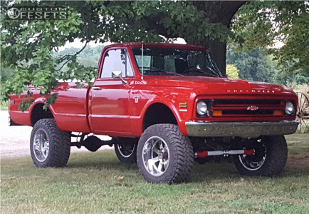 "1968 Chevrolet K10 Pickup - 20x12 -44mm - Moto Metal MO962 - Suspension Lift 6"" - 35"" x 12.5"""
