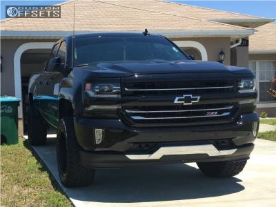 """2016 Chevrolet Silverado 1500 - 20x10 -24mm - Fuel Nutz - Stock Suspension - 33"""" x 12.5"""""""