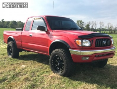 2003 Toyota Tacoma - 17x9 -12mm - Red Dirt Road Dirt - Leveling Kit - 265/70R17