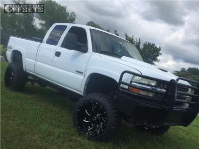 "1999 Chevrolet Silverado 2500 - 22x14 -70mm - Fuel Cleaver - Suspension Lift 6"" & Body 3"" - 35"" x 12.5"""