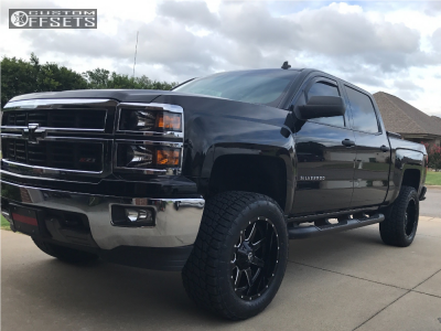 "2014 Chevrolet Silverado 1500 - 20x10 -12mm - Fuel Maverick - Suspension Lift 5"" - 305/55R20"