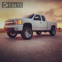 """2008 Chevrolet Silverado 1500 - 20x12 -44mm - Fuel Krank - Suspension Lift 7.5"""" - 35"""" x 12.5"""""""