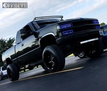 1995 Chevrolet K1500 - 20x12 -51mm - Vision Prowler - Leveling Kit & Body Lift - 285/50R20