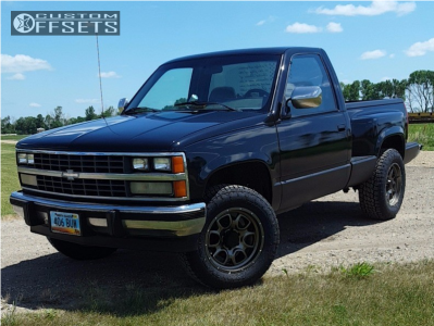 1988 Chevrolet K1500 - 18x9 -12mm - Mamba M19 - Stock Suspension - 265/65R18