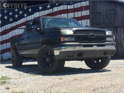 "2002 Chevrolet Silverado 1500 - 18x9 0mm - Xd Xd775 - Suspension Lift 3"" - 35"" x 12.5"""