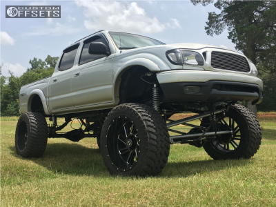 """2002 Toyota Tacoma - 22x12 -44mm - Hostile Stryker - Lifted >12"""" - 325/50R22"""