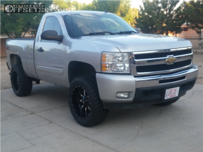 "2011 Chevrolet Silverado 1500 - 20x10 -24mm - Moto Metal Mo970 - Suspension Lift 3"" - 33"" x 12.5"""