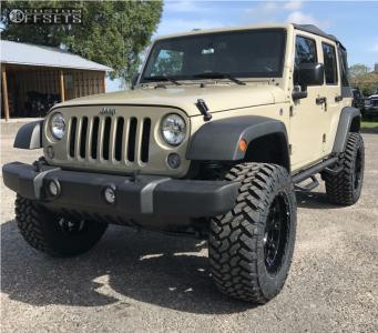 "2017 Jeep Wrangler - 20x10 -24mm - Xd XD829 - Suspension Lift 4"" - 35"" x 12.5"""