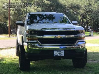 "2017 Chevrolet Silverado 1500 - 20x10 -24mm - Dfd 388 - Suspension Lift 7.5"" - 35"" x 12.5"""