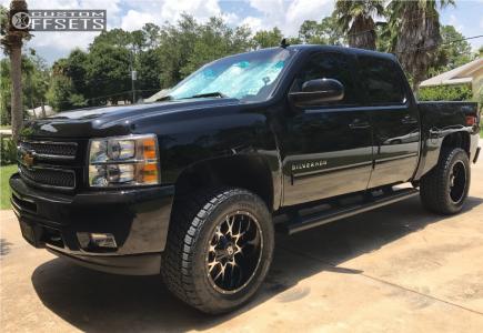 2012 Chevrolet Silverado 1500 - 20x10 -19mm - Dropstars 645mb - Leveling Kit - 305/55R20