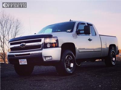 2011 Chevrolet Silverado 1500 - 17x9 0mm - V-Tec Warlord - Leveling Kit - 275/65R17