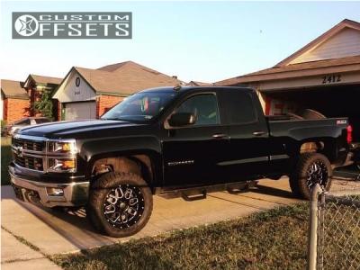 "2014 Chevrolet Silverado 1500 - 20x10 -24mm - XD Xd820 - Suspension Lift 3.5"" - 295/75R20"