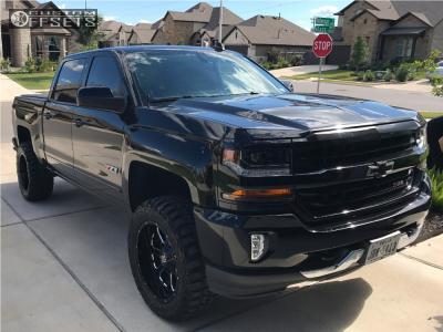 "2016 Chevrolet Silverado 1500 - 20x10 -24mm - XD Xd825 - Suspension Lift 3.5"" - 33"" x 12.5"""