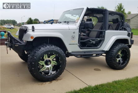 "2009 Jeep Wrangler - 20x12 -44mm - American Truxx Ninja - Suspension Lift 3.5"" - 35"" x 12.5"""