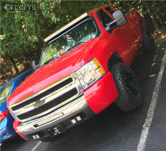 2011 Chevrolet Silverado 1500 - 17x9 18mm - Gear Off-Road Big Block - Leveling Kit - 285/70R17