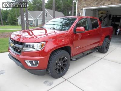 2016 Chevrolet Colorado - 18x9 18mm - Helo HE901 - Stock Suspension - 285/60R18