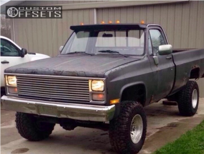 """1984 Chevrolet K20 - 16x10 -25mm - American Racing Outlaw Ii - Suspension Lift 4"""" - 33"""" x 12.5"""""""