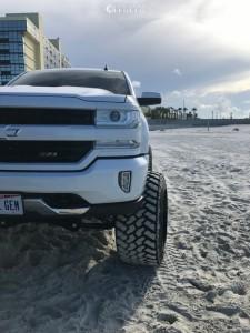 "2016 Chevrolet Silverado 1500 - 24x16 -100mm - Fuel Maverick - Suspension Lift 10"" - 375/40R24"