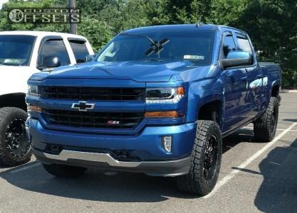 2017 Chevrolet Silverado 1500 - 20x9 -12mm - Ballistic Mace - Leveling Kit - 305/55R20