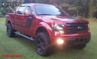 """2014 Ford F-150 - 20x8.5 44mm - Stock Stock - Suspension Lift 3"""" - 35"""" x 12.5"""""""