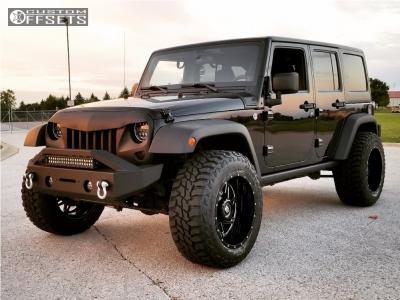 "2011 Jeep Wrangler - 20x12 -44mm - American Truxx Warrior - Leveling Kit - 35"" x 12.5"""