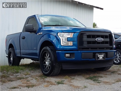 """2017 Ford F-150 - 20x9 0mm - Toxic Punisher - Level 2"""" Drop Rear - 285/50R20"""