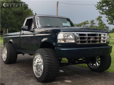"""1994 Ford F-150 - 22x16 -101mm - Fuel Forged Ff41 - Suspension Lift 6"""" - 355/40R22"""