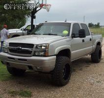 "2004 Chevrolet Silverado 1500 - 20x12 -44mm - Xd XD820 - Suspension Lift 5"" - 35"" x 12.5"""