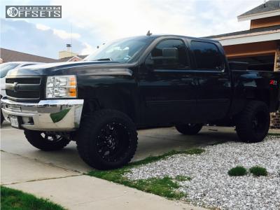"2012 Chevrolet Silverado 1500 - 20x12 -24mm - Off Road Monster M18 - Suspension Lift 7.5"" - 35"" x 12.5"""